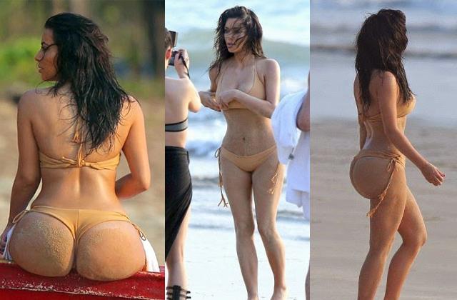 Kim Kardashian, din nou goala. Uite ce posterior are!